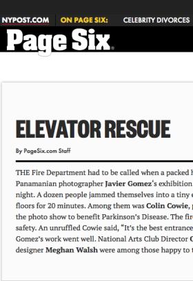 Elevator Rescue Javier Gomez New York Photographer