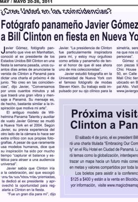 Bill Clinton con fotógrafo Panameño Javier Gomez